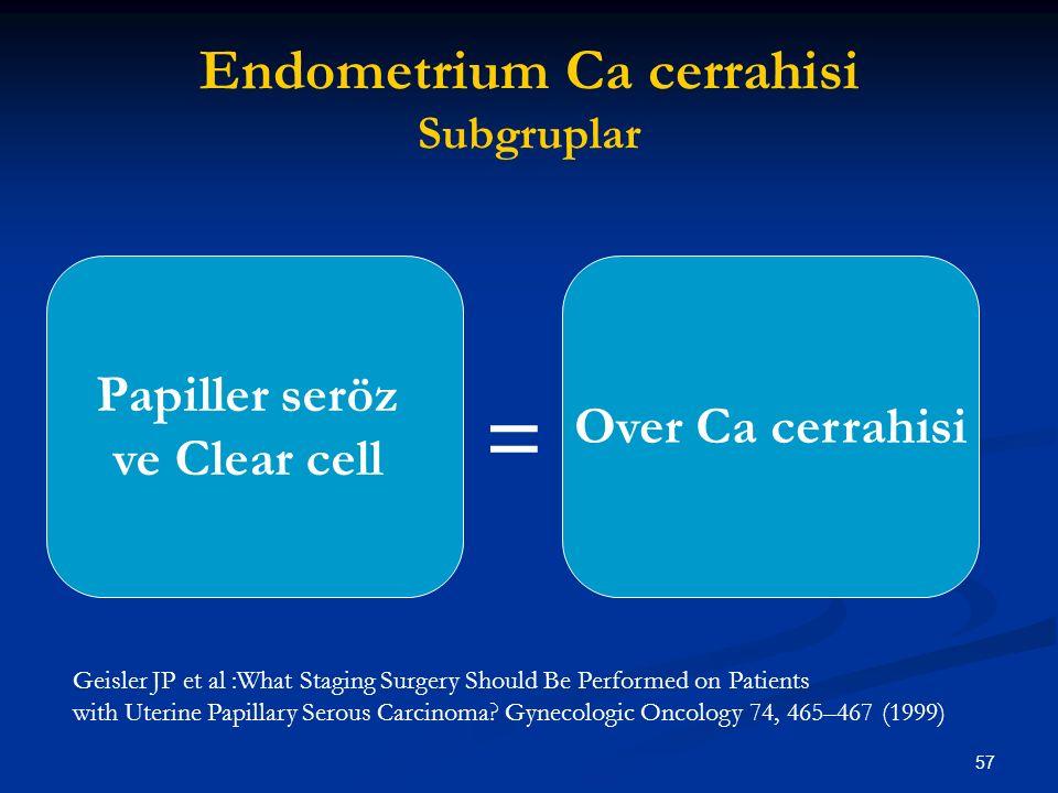 Endometrium Ca cerrahisi Subgruplar