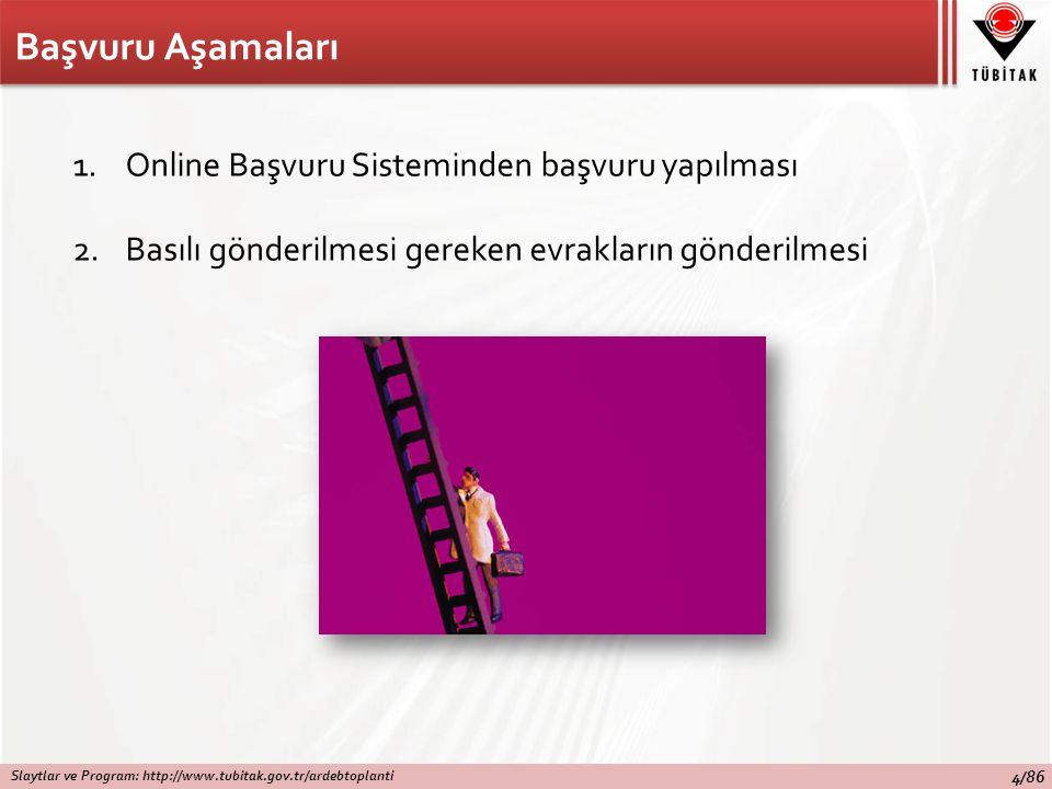 Başvuru Aşamaları Online Başvuru Sisteminden başvuru yapılması