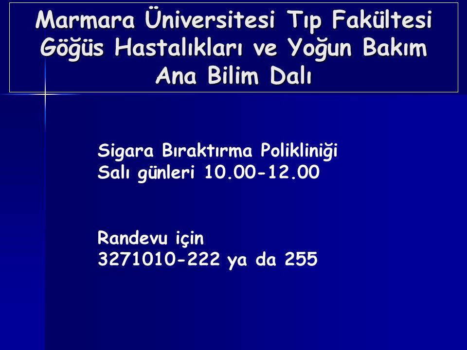 Marmara Üniversitesi Tıp Fakültesi Göğüs Hastalıkları ve Yoğun Bakım Ana Bilim Dalı