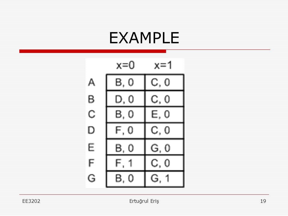 EXAMPLE EE3202 Ertuğrul Eriş