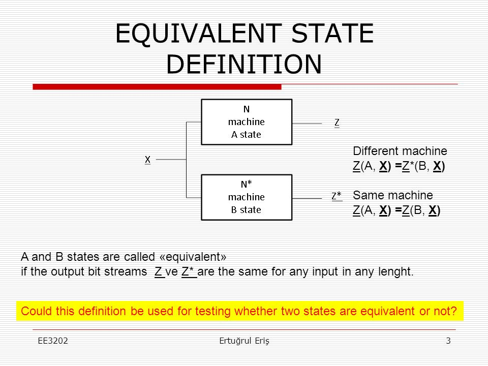 EQUIVALENT STATE DEFINITION
