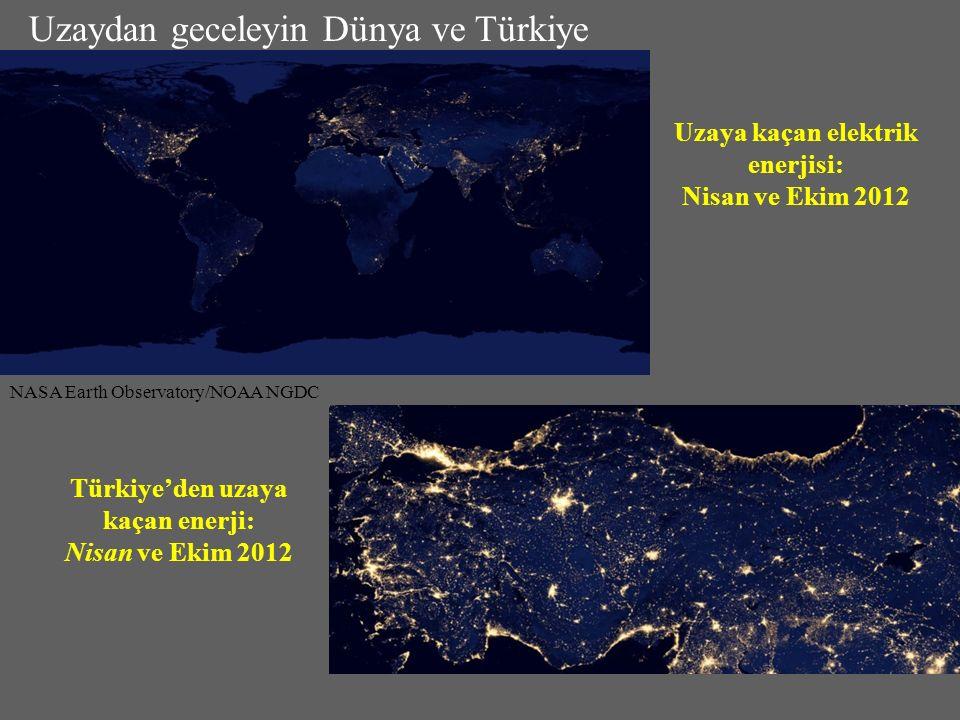 Uzaya kaçan elektrik enerjisi: Nisan ve Ekim 2012