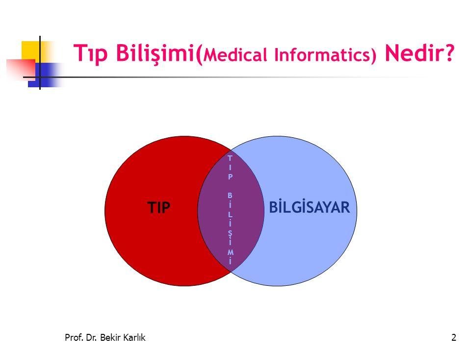 Tıp Bilişimi(Medical Informatics) Nedir