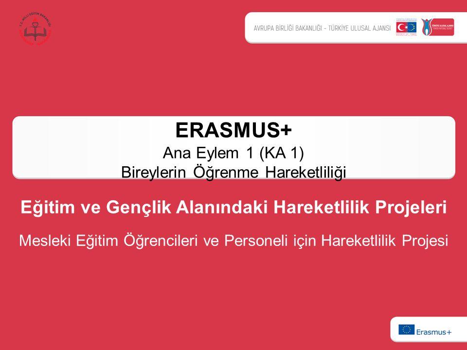 ERASMUS+ Ana Eylem 1 (KA 1) Bireylerin Öğrenme Hareketliliği