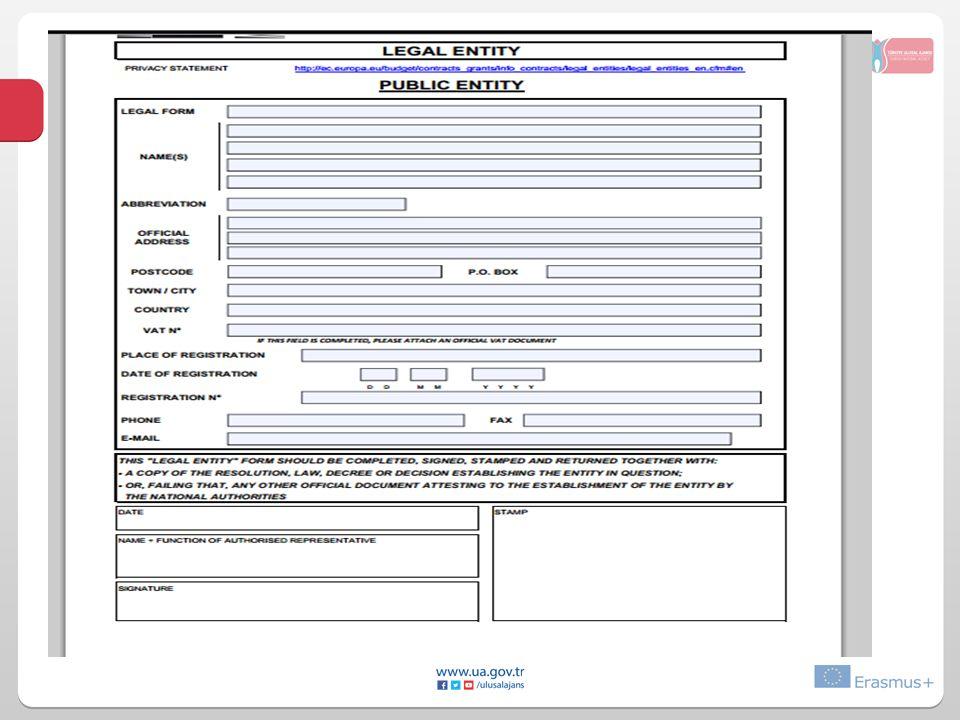 Tüzel kişilik formu (PIC kodu alınırken istenilen zorunlu belgeler)