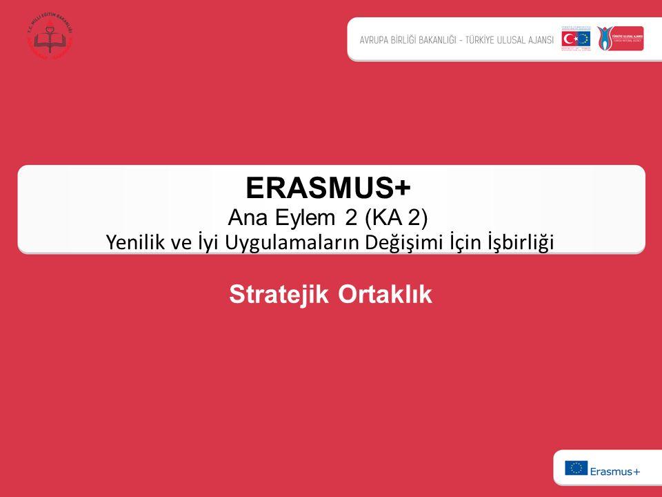 ERASMUS+ Ana Eylem 2 (KA 2) Yenilik ve İyi Uygulamaların Değişimi İçin İşbirliği