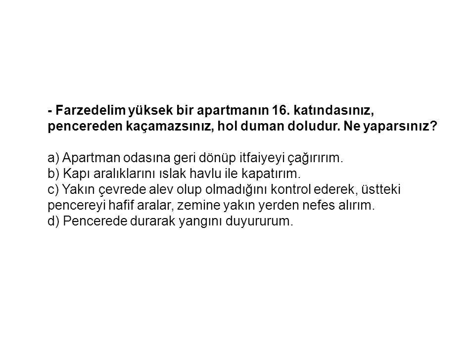- Farzedelim yüksek bir apartmanın 16
