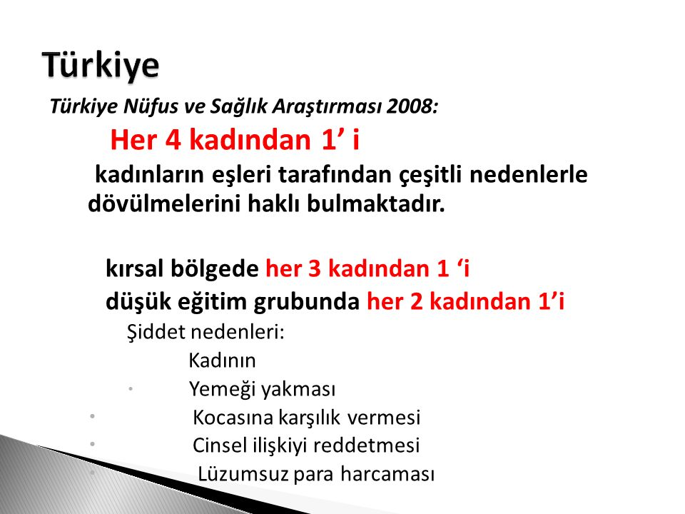 Türkiye Her 4 kadından 1' i