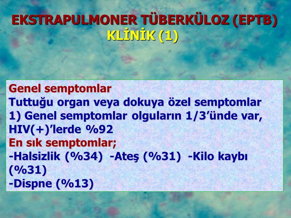 EKSTRAPULMONER TÜBERKÜLOZ (EPTB)