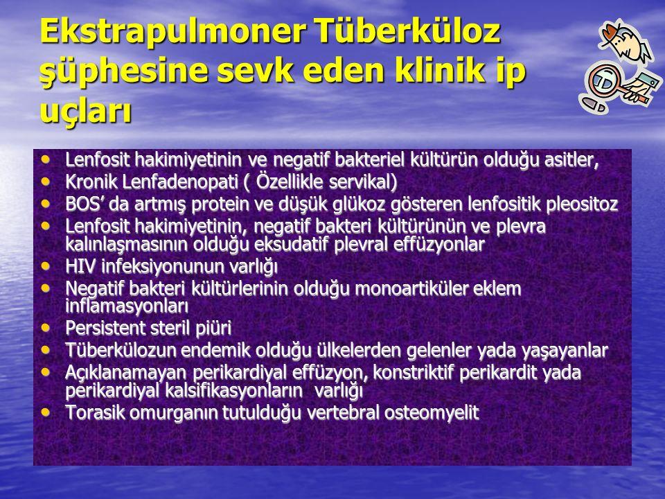 Ekstrapulmoner Tüberküloz şüphesine sevk eden klinik ip uçları