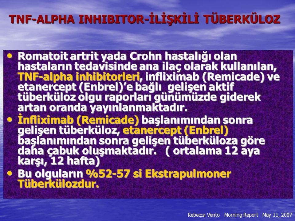 TNF-ALPHA INHIBITOR-İLİŞKİLİ TÜBERKÜLOZ