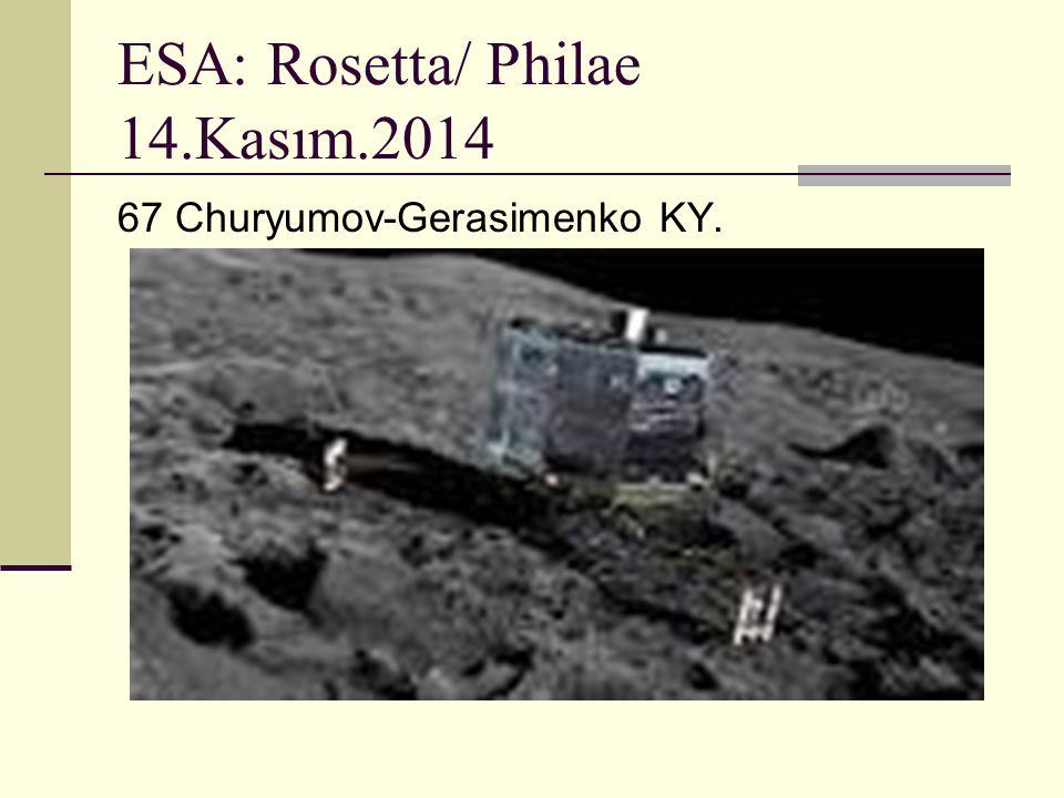 ESA: Rosetta/ Philae 14.Kasım.2014