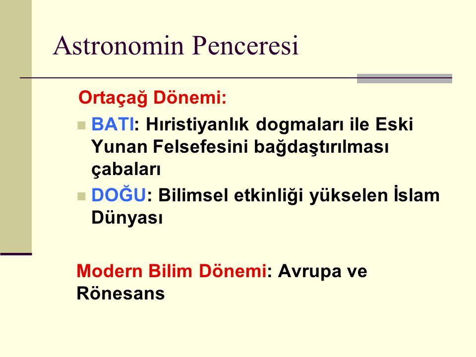 Astronomin Penceresi Ortaçağ Dönemi: