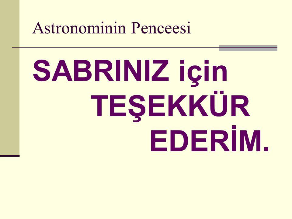 Astronominin Penceesi