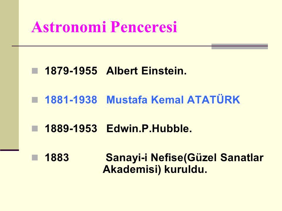 Astronomi Penceresi 1879-1955 Albert Einstein.