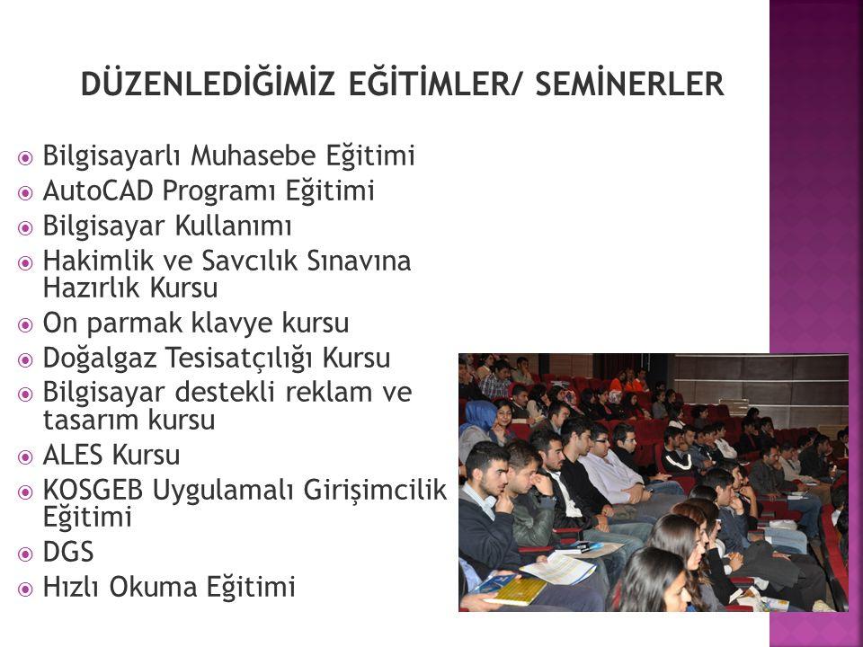 DÜZENLEDİĞİMİZ EĞİTİMLER/ SEMİNERLER