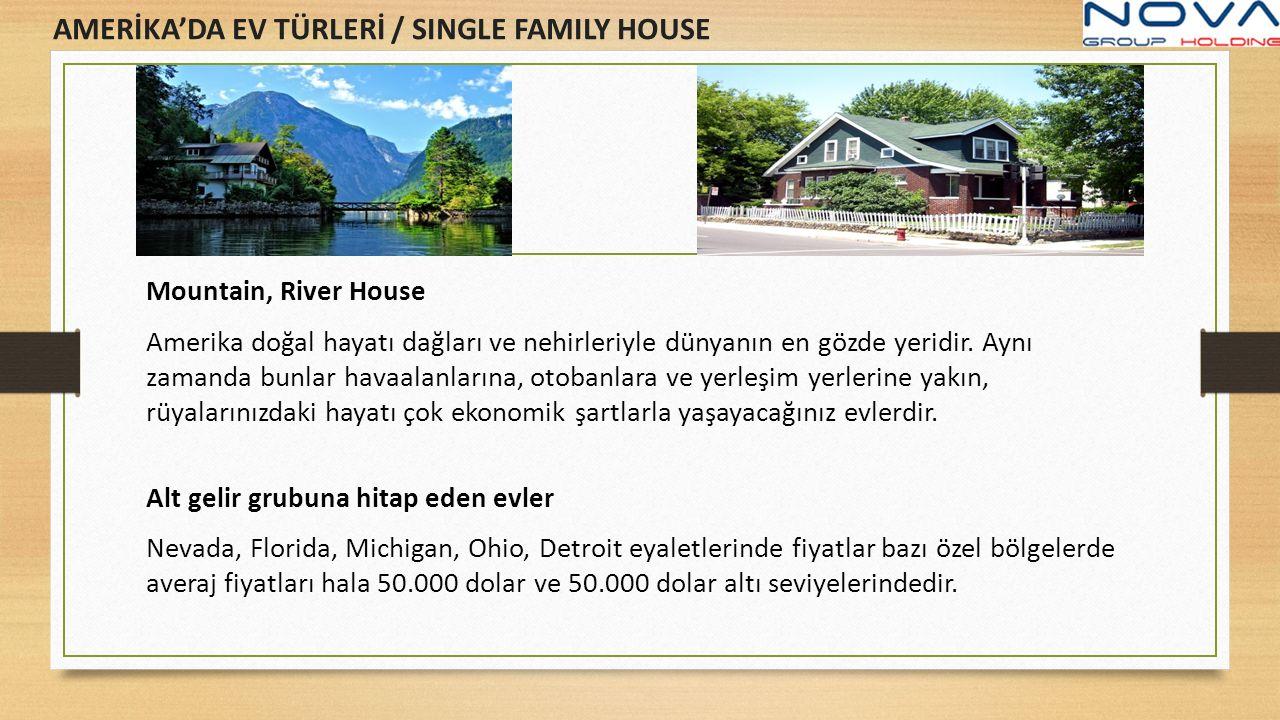 AMERİKA'DA EV TÜRLERİ / SINGLE FAMILY HOUSE