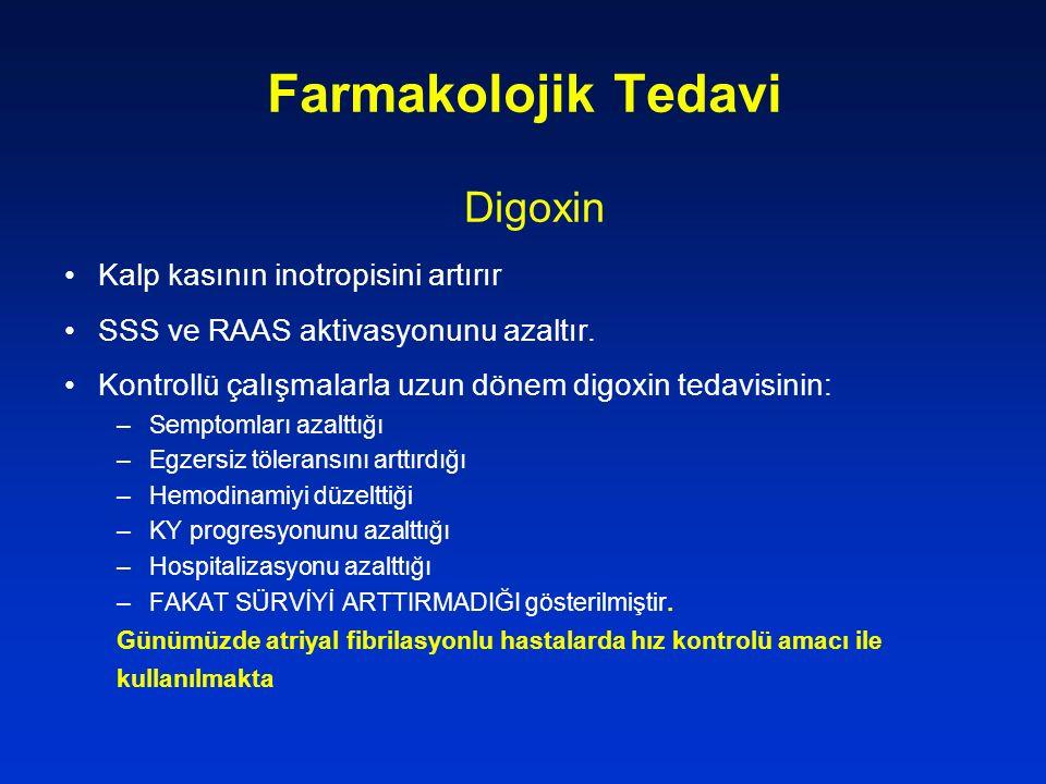 Farmakolojik Tedavi Digoxin Kalp kasının inotropisini artırır