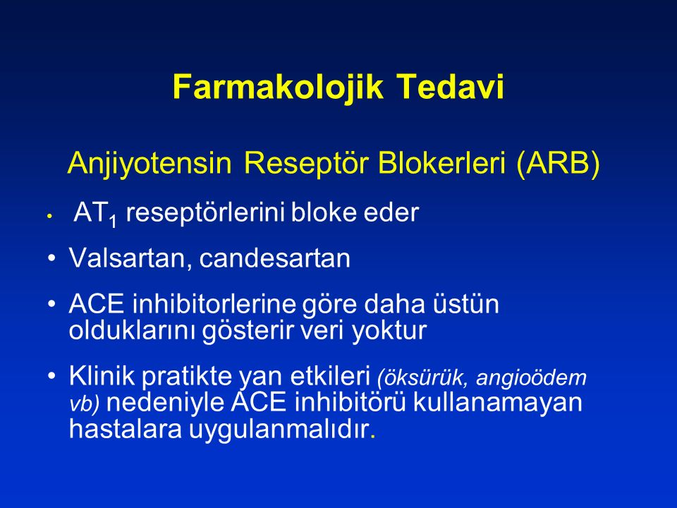 Anjiyotensin Reseptör Blokerleri (ARB)