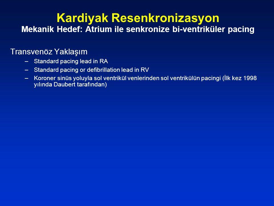 Kardiyak Resenkronizasyon Mekanik Hedef: Atrium ile senkronize bi-ventriküler pacing