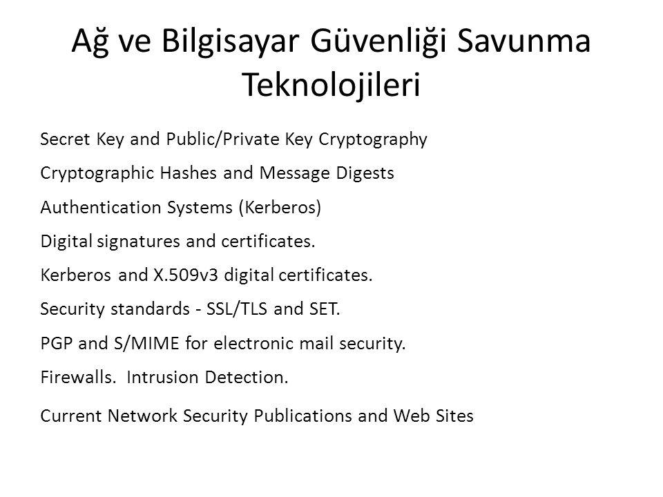 Ağ ve Bilgisayar Güvenliği Savunma Teknolojileri