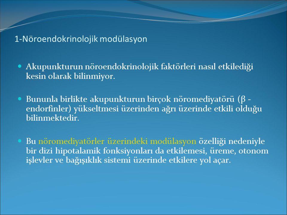 1-Nöroendokrinolojik modülasyon
