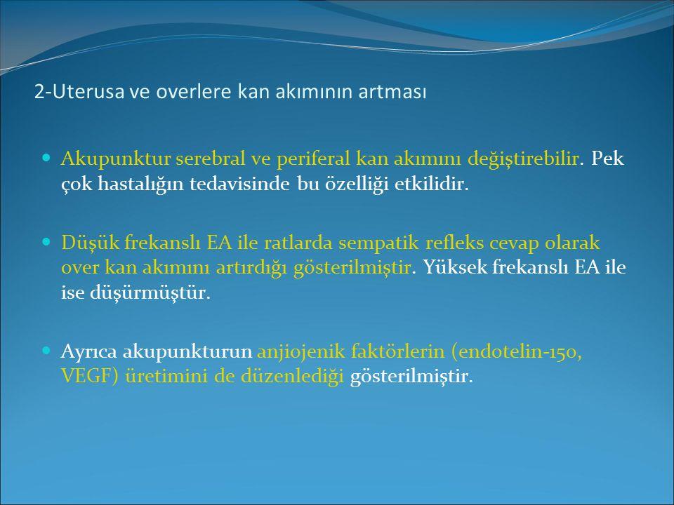 2-Uterusa ve overlere kan akımının artması
