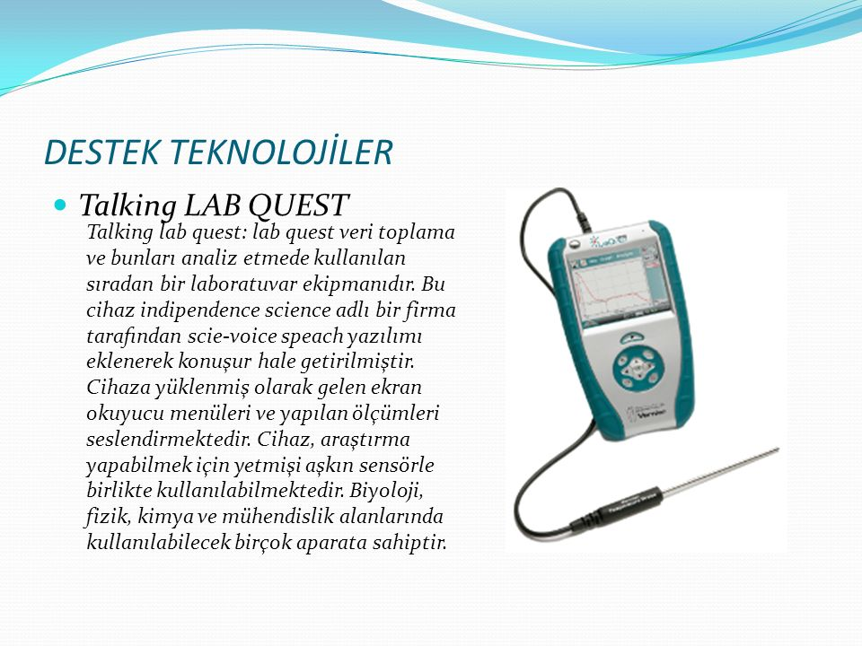 DESTEK TEKNOLOJİLER Talking LAB QUEST