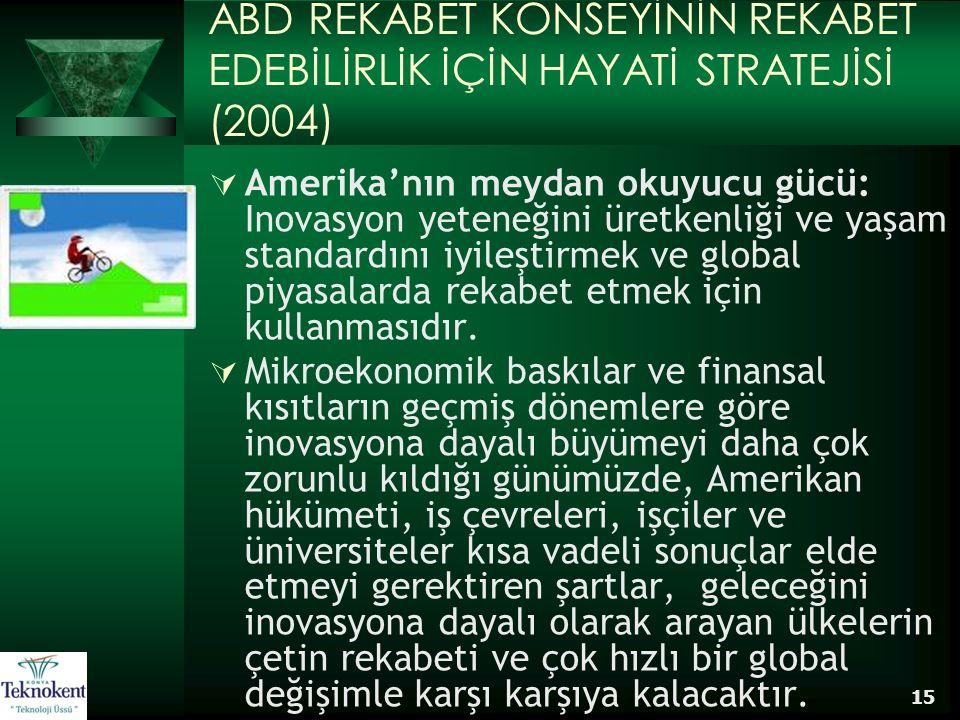 ABD REKABET KONSEYİNİN REKABET EDEBİLİRLİK İÇİN HAYATİ STRATEJİSİ (2004)