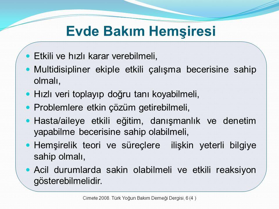 Cimete 2008. Türk Yoğun Bakım Derneği Dergisi, 6 (4 )