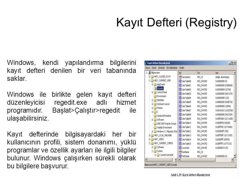 Kayıt Defteri (Registry)