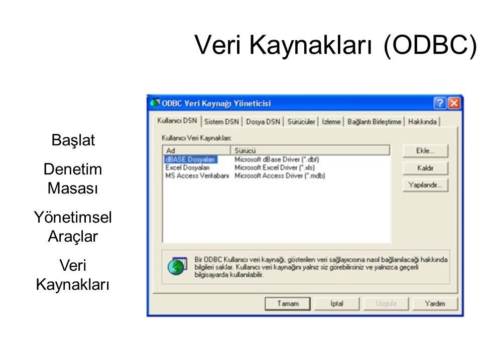 Veri Kaynakları (ODBC)