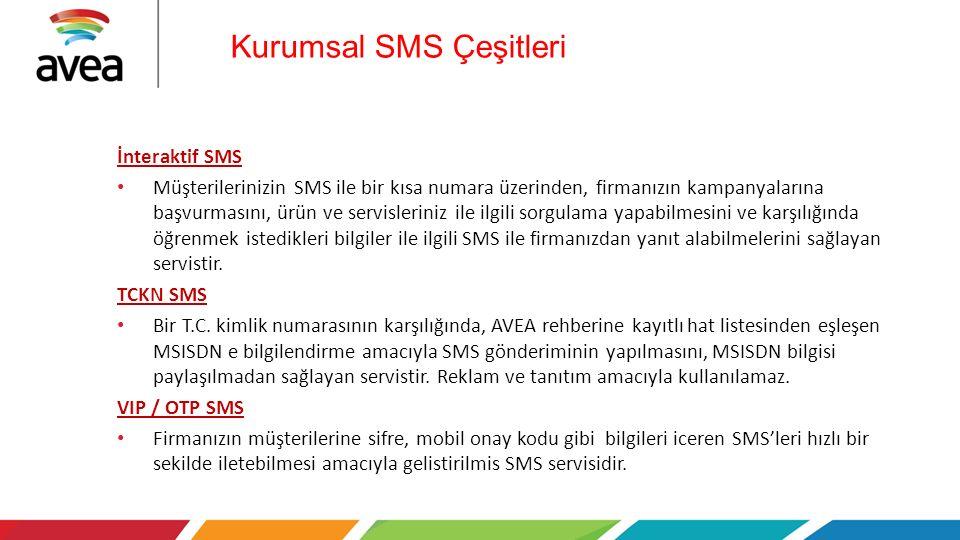 Kurumsal SMS Çeşitleri
