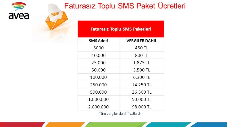 Faturasız Toplu SMS Paket Ücretleri