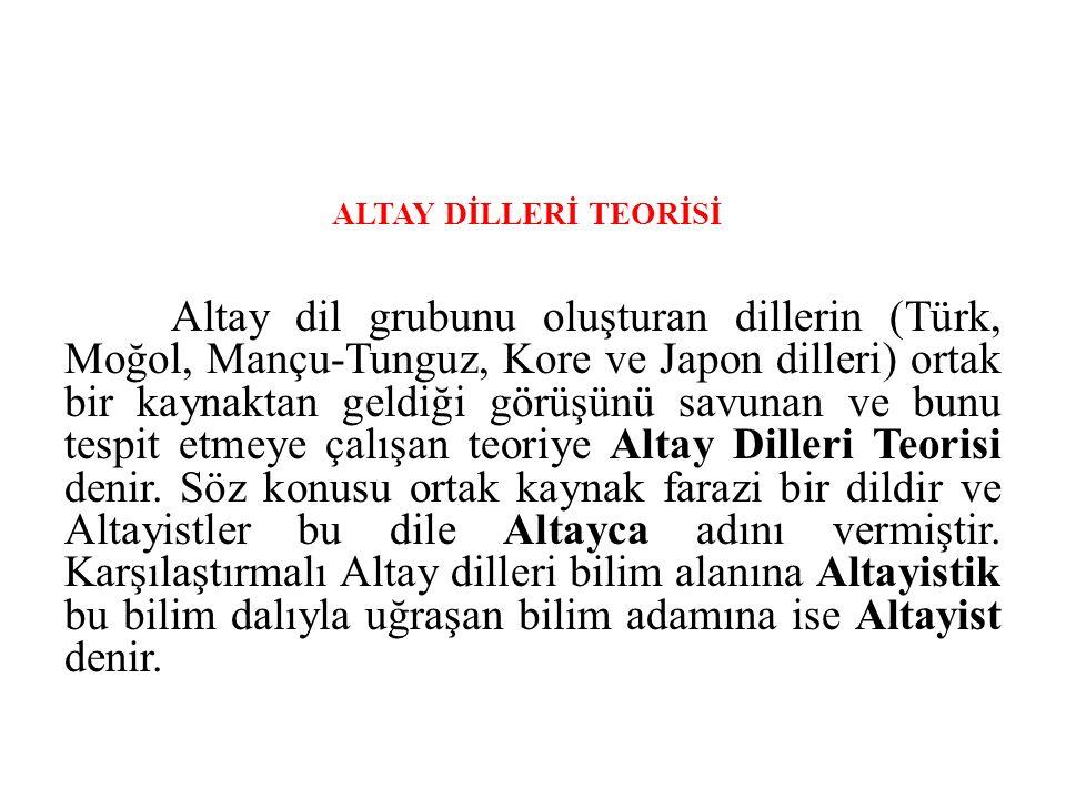 ALTAY DİLLERİ TEORİSİ