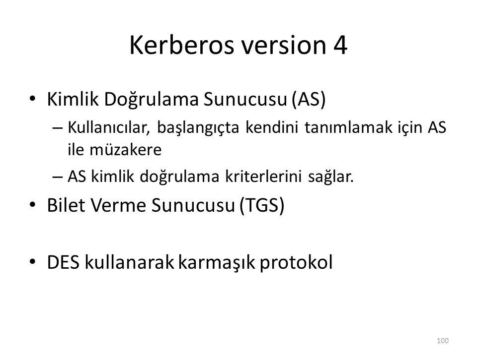 Kerberos version 4 Kimlik Doğrulama Sunucusu (AS)