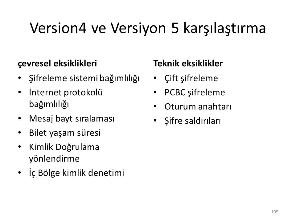 Version4 ve Versiyon 5 karşılaştırma