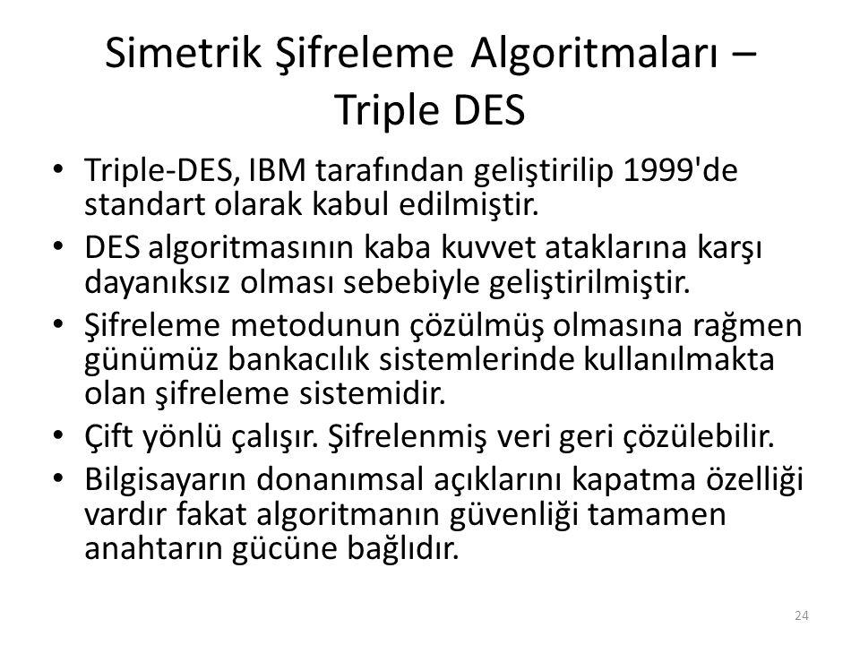 Simetrik Şifreleme Algoritmaları – Triple DES