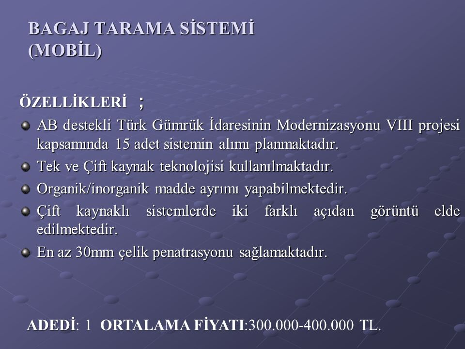 BAGAJ TARAMA SİSTEMİ (MOBİL)