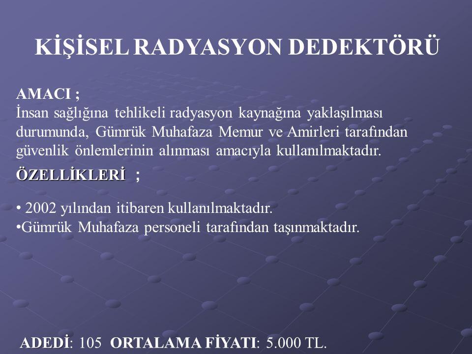 KİŞİSEL RADYASYON DEDEKTÖRÜ