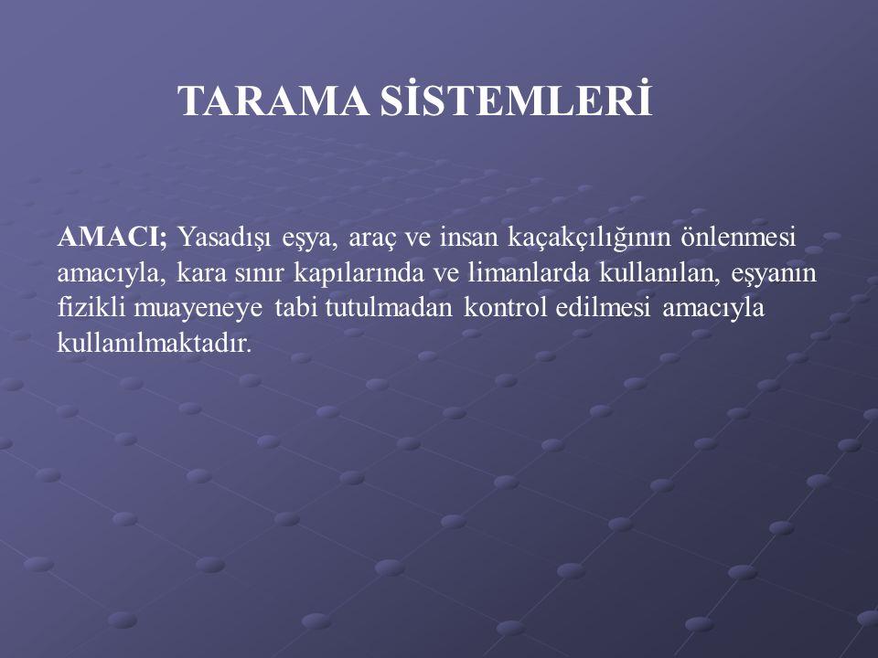 TARAMA SİSTEMLERİ