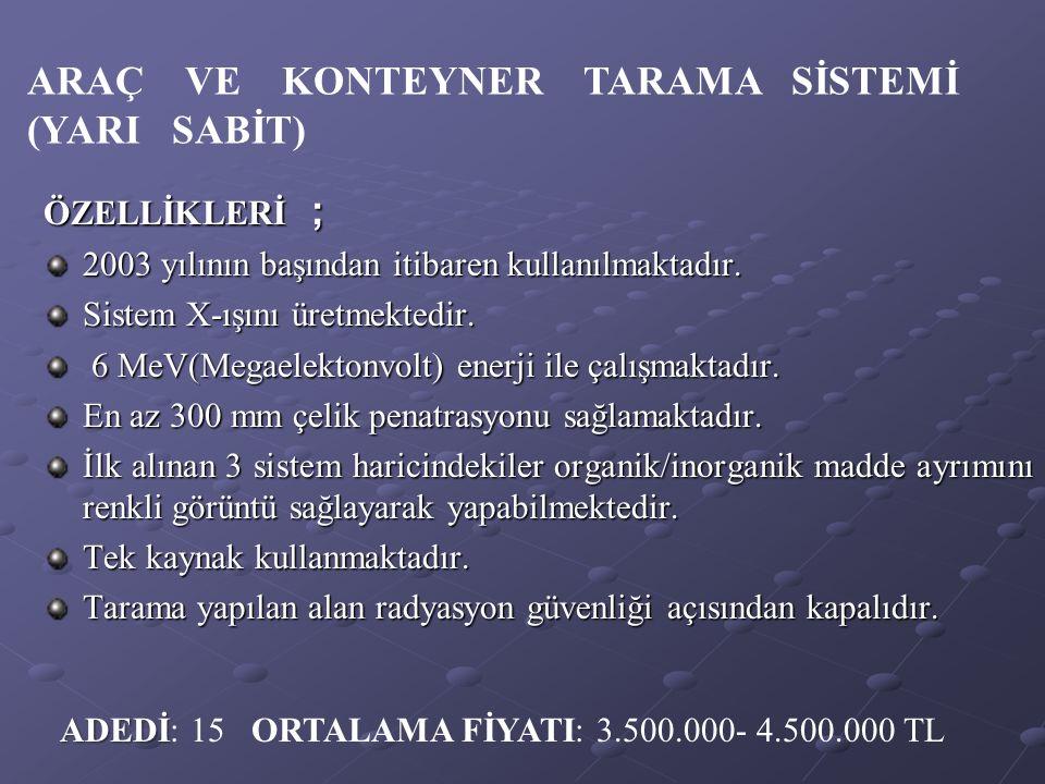 ARAÇ VE KONTEYNER TARAMA SİSTEMİ (YARI SABİT)