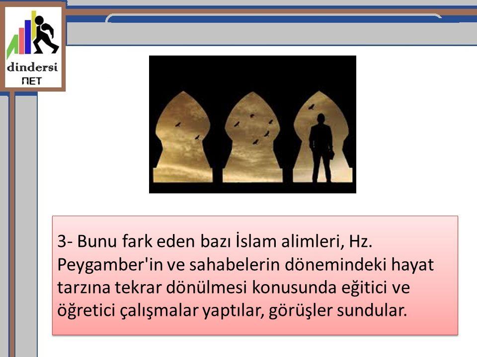 3- Bunu fark eden bazı İslam alimleri, Hz