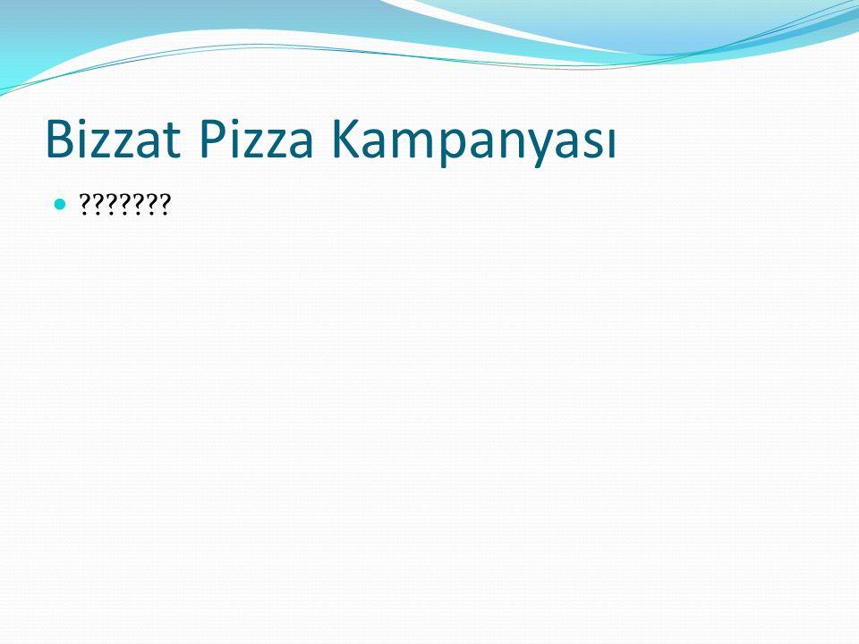 Bizzat Pizza Kampanyası
