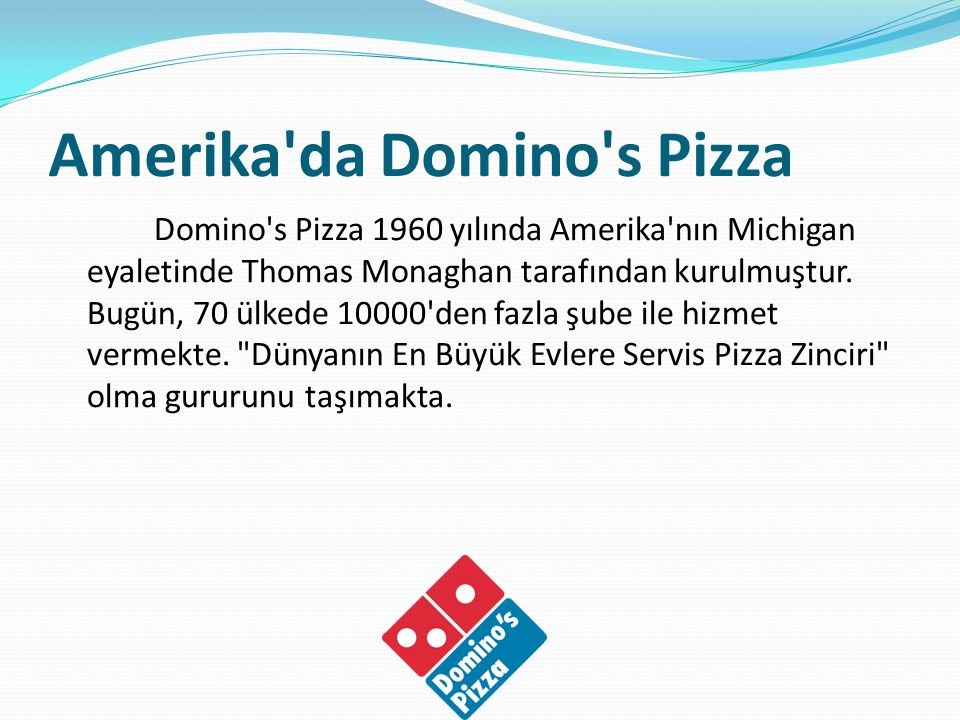 Amerika da Domino s Pizza