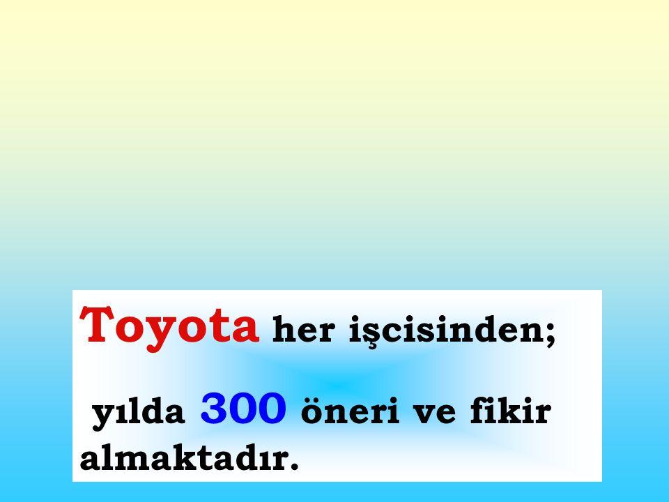 Toyota her işcisinden;