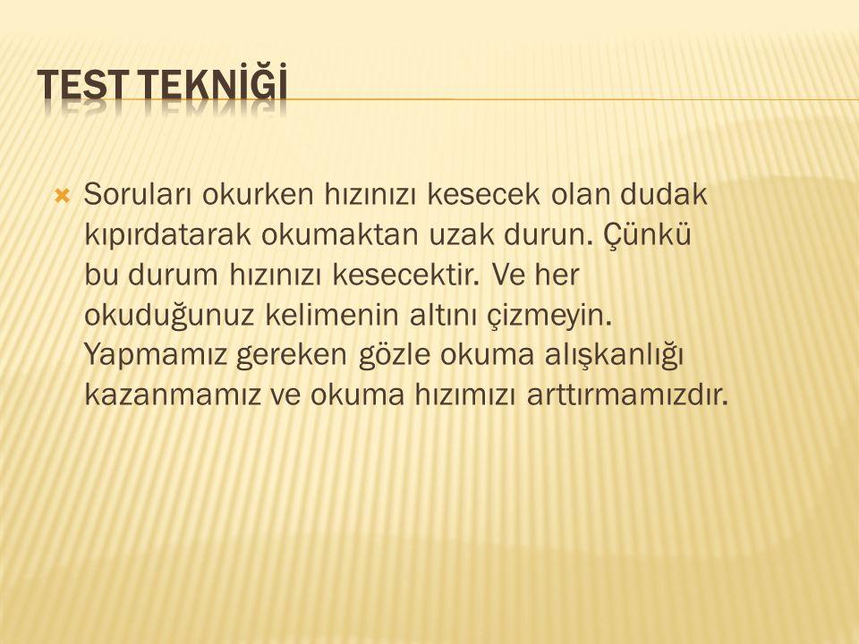 TEST TEKNİĞİ