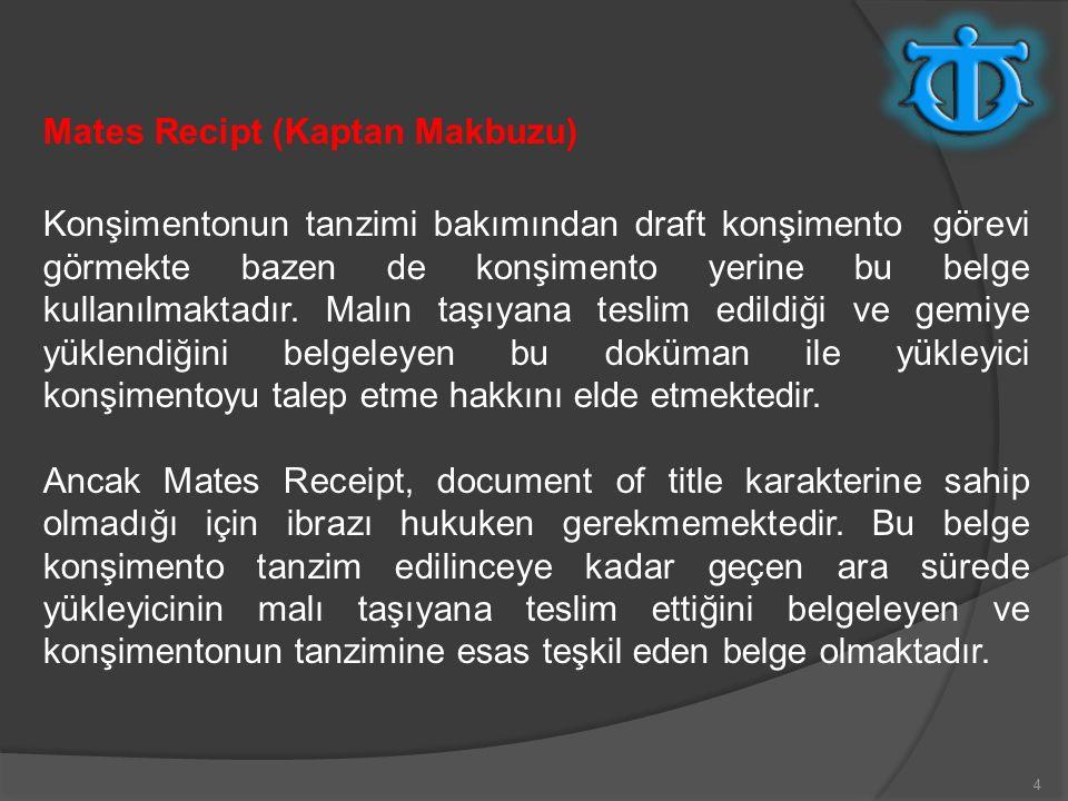 Mates Recipt (Kaptan Makbuzu)