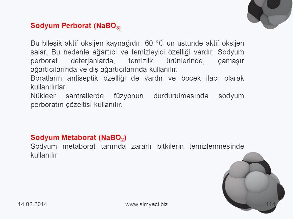 Sodyum Perborat (NaBO3)