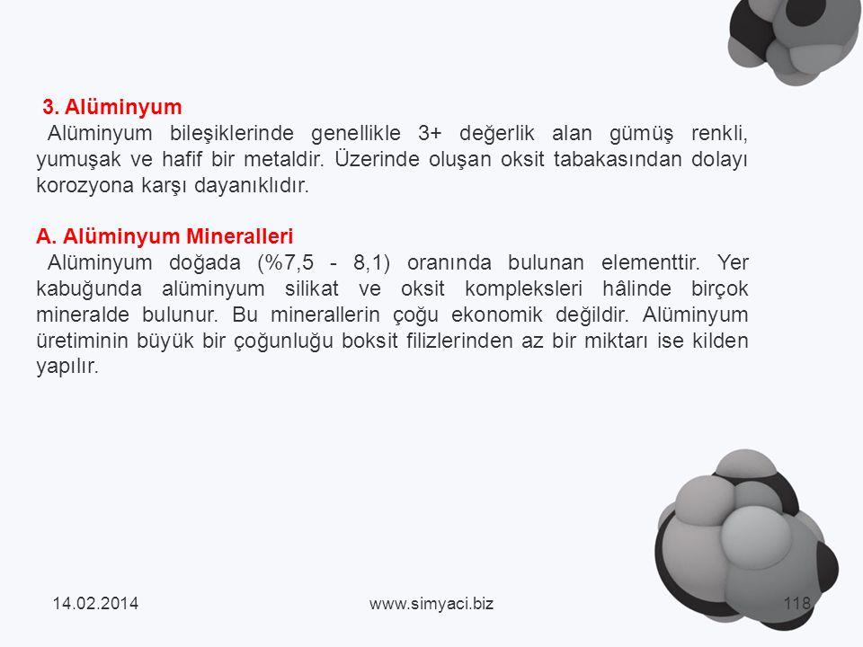 A. Alüminyum Mineralleri